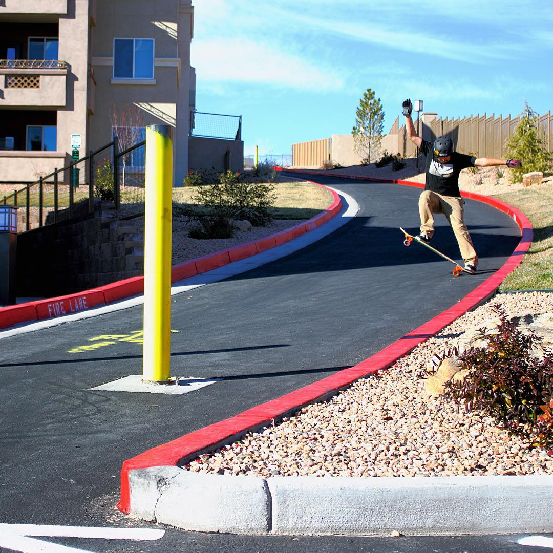 Following the curves of the red painted curbs, @deadbear13 gets blunted in the black.