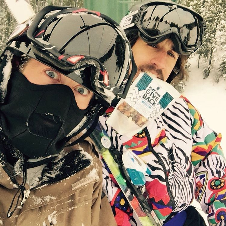 PlayHard GiveBack team members found a lost ski on the mountain. Ryan - right - found Kaitlin, the owner, and returned it. Just trying to play hard and give back everyday! #livewhatyoupreach #dogood #playwithpurpose #skiing #sunvalley #powdays #idahome
