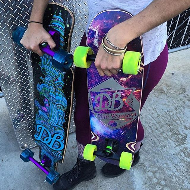 The Cosmonaut and the Mini Space Cruiser are great board for space and street exploration. Check them out at Muirskate.com! #muirskate #dblongboards #goskate #longboard