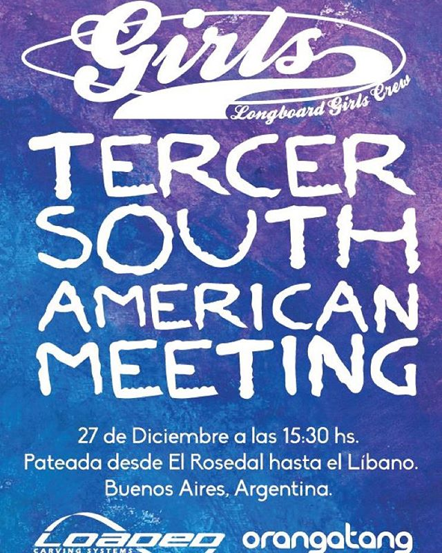 Se viene se viene! Tercer South American Girls Meet en Buenos Aires, Argentina! El 27 de diciembre quedada en el Rosedal y posterior pateada para la cuesta del Líbano. Todos los detalles y link al evento en nuestro perfil de Facebook.  Gracias...