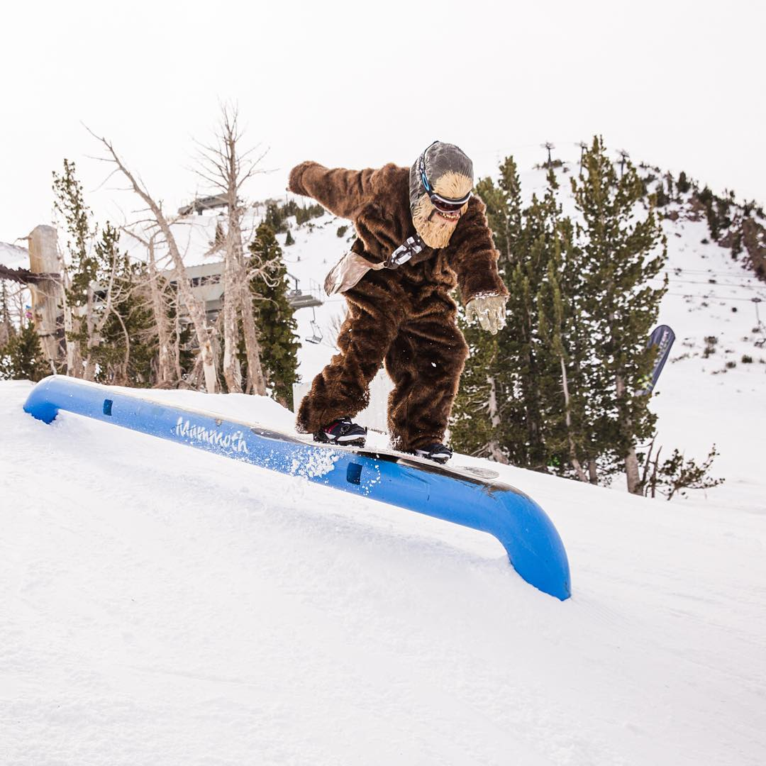 Chewbacca can boardslide with the best of 'em…  Click the link on our profile page to check out @PeterMorning's #StarWars gallery on XGames.com!