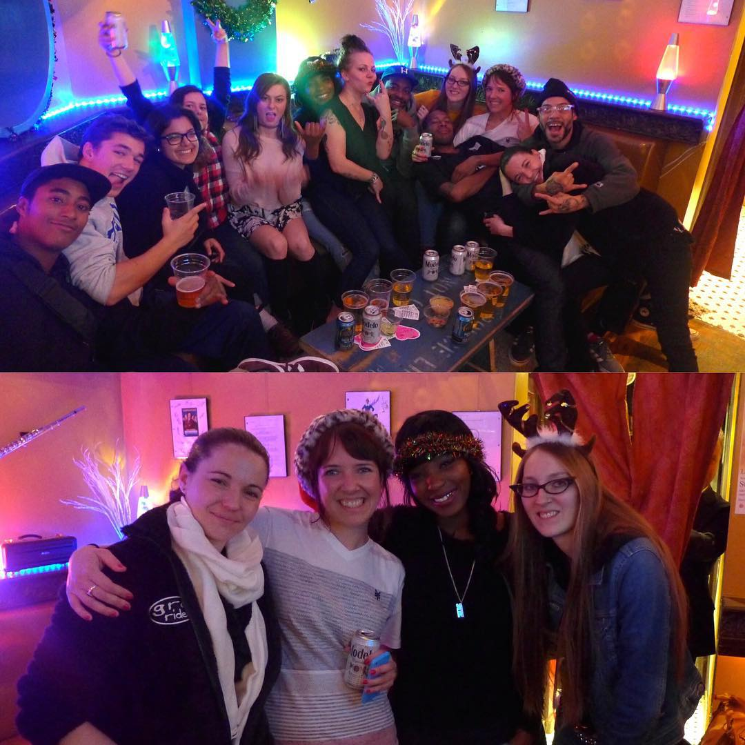Great night @stayclassybar for our holiday party! Thanks to everyone that came out!! #ridetrue #ladiesofshred #nyskateboarding #happyholidays