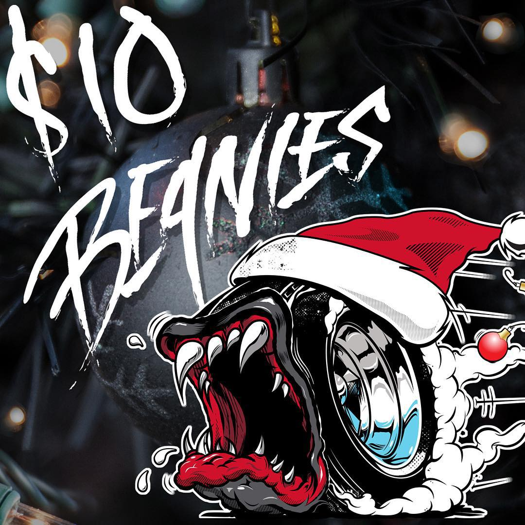 Hoonigan Holiday Countdown: BEANIES FOR JUST 10 BUCKS on #hooniganDOTcom! Today only, so put some pep in your step, or click, and get 'em while they last.