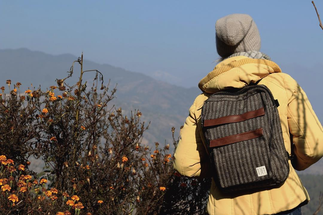 Take it anywhere. Handwoven in the Himalayas. #estwst #liveauthentic #connectglobally #convertiblebag