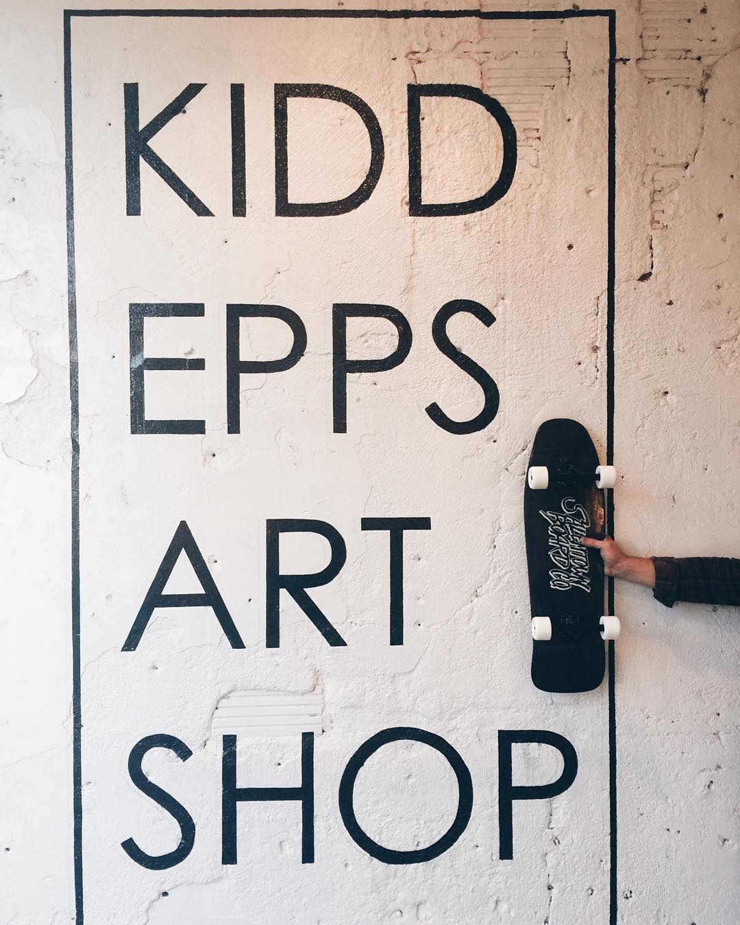 Tomorrow we are open along with the rest of the street. Go check out our friends at @kiddeppsartshop while you're out here. Good people, quality goods.
