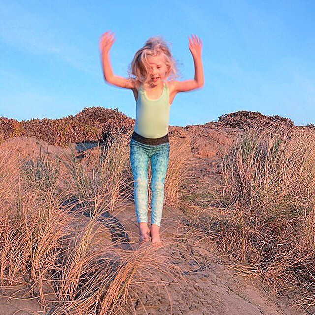 JUMP FOR JOY  Now you can snag a pair of OKIINO Minnow Leggings! We've created the ultimate beautifully functional leggings for the mini mermaids in your life: UPF 50+ (highest rating possible!) 4-Way stretch Italian Fabric Quick drying Moisture...