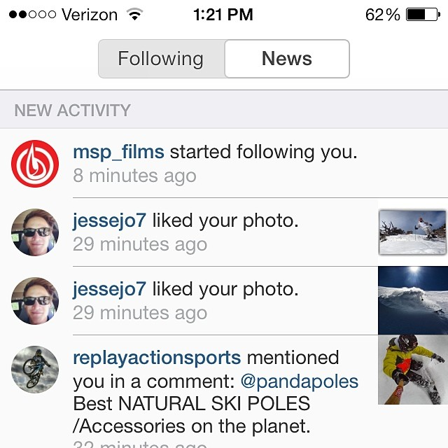 "Thanks for the ""follow"" @msp_films!  #matchstickproductions #skimovie #legendary"