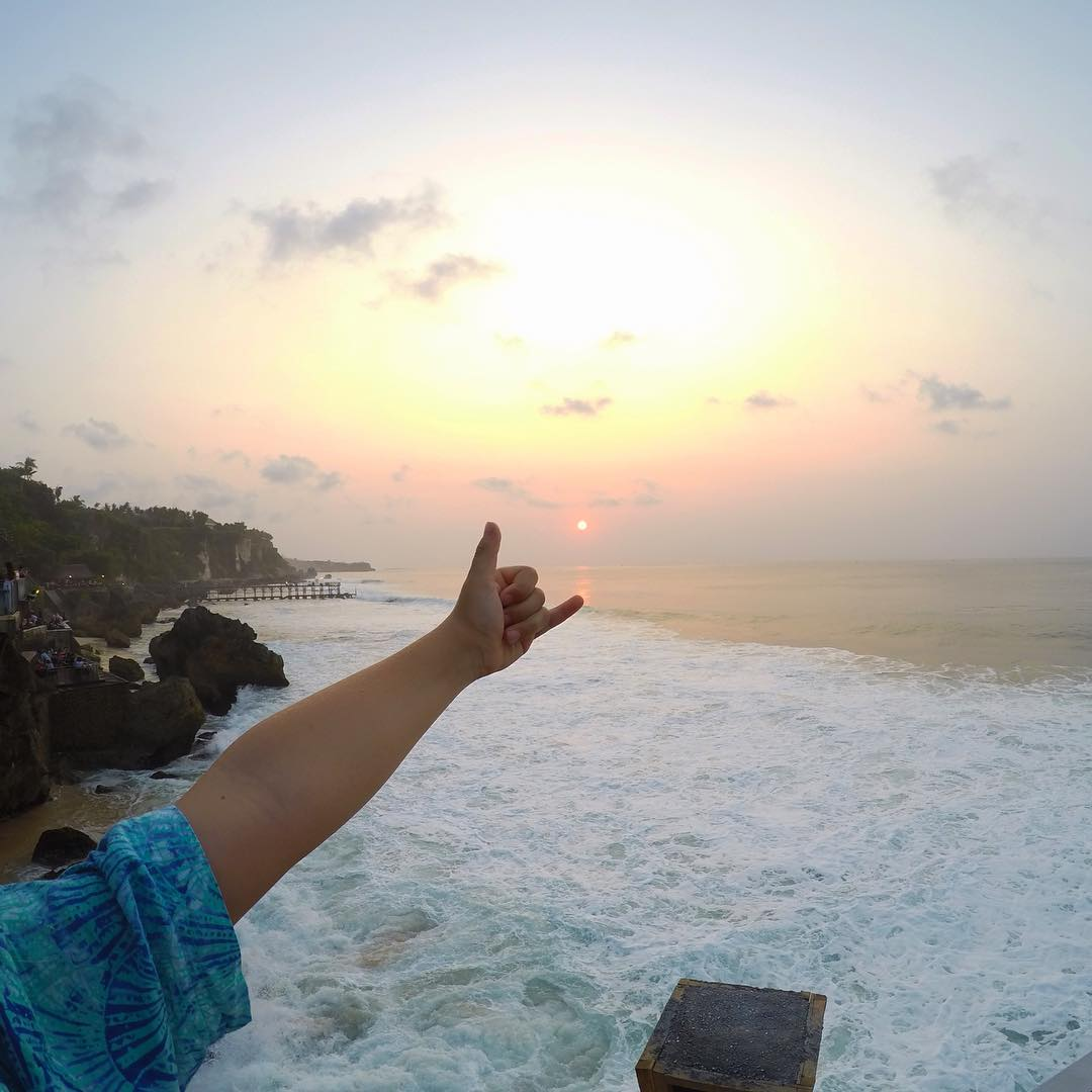 GoPro Featured Photographer and Professional Skateboarder - @andrewbrophy  About the Shot: For this shot, we were out for a #family dinner at the Rock Bar in #Bali. The place is unreal as it is set on the cliffs over looking a beautiful #beach. I took...