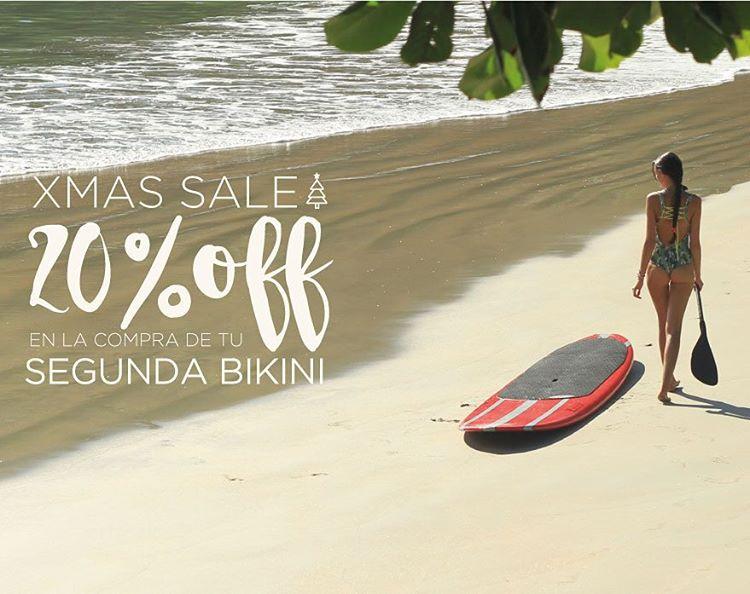 XMAS SALE!! Starting NOW!! 20% OFF en la compra de tu segunda bikini Hoy y mañana: Feria en el Patio! • 16 a 21hs • Gascón 83 • San Isidro •