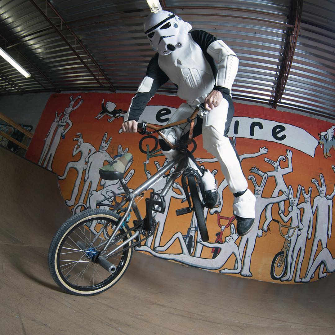 BMX is the best way to unwind after a long day of doin' Darth Vader's dirty work!  Click the link on our profile page to check out @Sandy_Carson's #StarWars gallery on XGames.com.