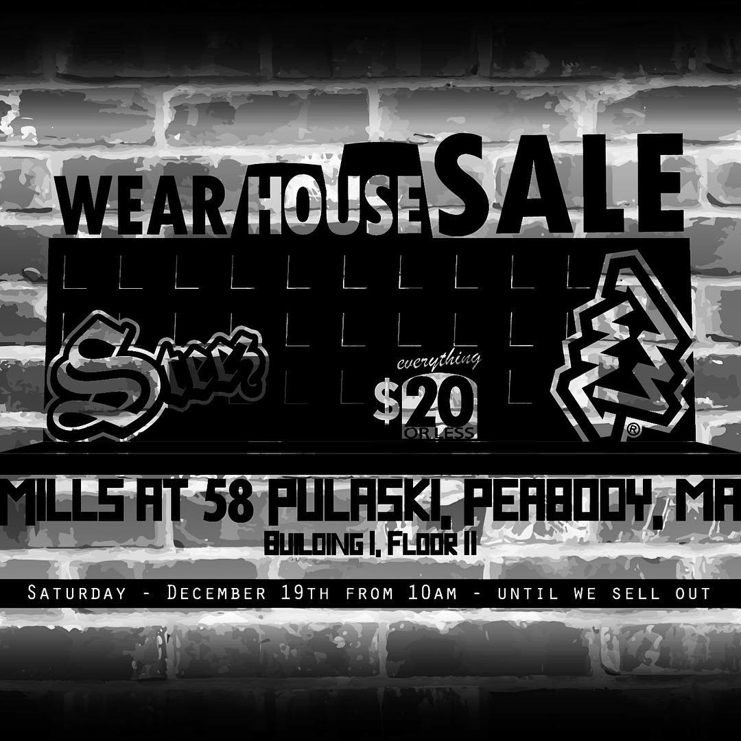 Today is our warehouse sale at the Steez office. 58 Pulaski st in Peabody, ma. Everything is under $20 and there's so much awesome stuff. Get here and get it quick and grab some stuff from @oneoheight while you're at it. #warehousesale #peabody #steez...