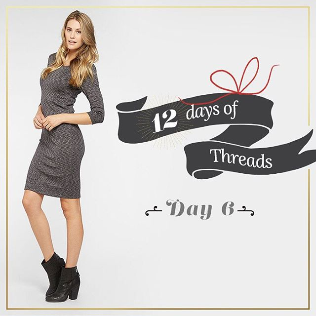 12 Days of Threads - Day 6⃣ #giveaway. #WIN our Jaylynne dress! Follow us on Instagram, Repost this photo tagging @threads4thought & #12daysofT4T for a chance to win ! #prize #dresses #nightout #fashion #women #livesustainably
