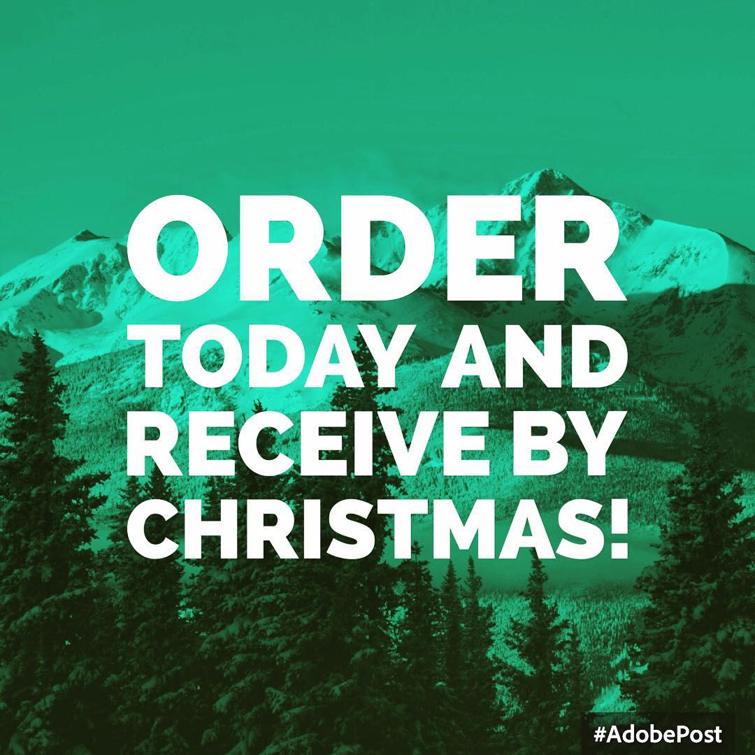 Avoid traffic and holiday chaos!  Any orders placed today will arrive by Christmas at concretecoast.com.  Merry Christmas and Happy Holidays!  #Christmas #christmasgifts #holidays #mountains #snow #winter #newyears