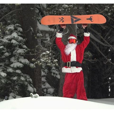 Santa siting at @borealmtn and it's no surprise he rides an Academy!! Get out and shred this weekend!! New snow is falling everywhere!  #teamseries