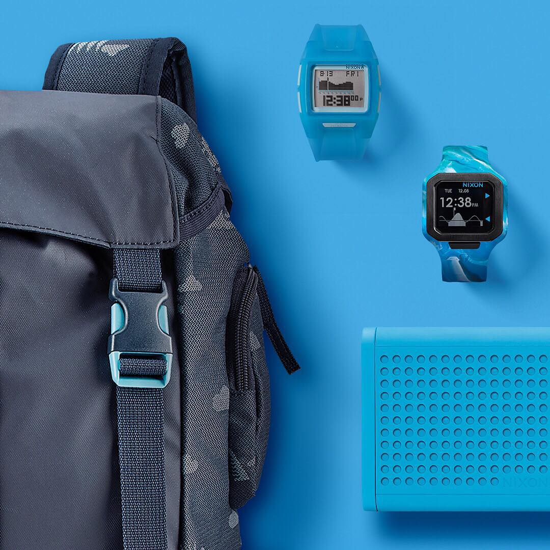 Built for life on the road, life in the water or both, the #Nixon #GetGifting gift guide has got the goods for those who live life outside of the four walls. Featuring: the #Waterlock Backpack, the #Lodown, the #Supertide and #MiniBlaster. #Nixon...