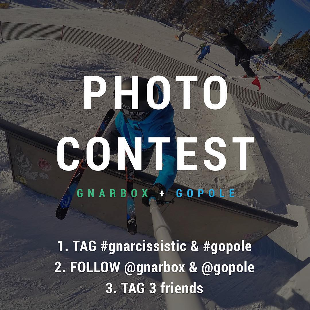 @gnarbox + @gopole PHOTO CONTEST LAST DAY!! Tag your Best Photos, Win Free Stuff. Here's how: 1. Tag top photos & videos with #gnarcissistic #gopole 2. Follow @gnarbox & @gopole 3. Tag 3 friends. Head over to @gnarbox for more information.