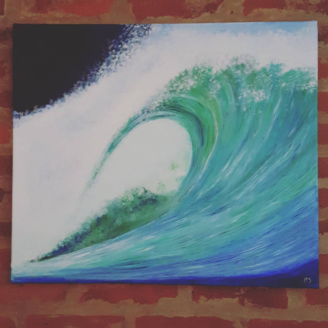 #surfart by @myriam_sabra  We love this beautifull wave  #gotcha #iconsneverdie