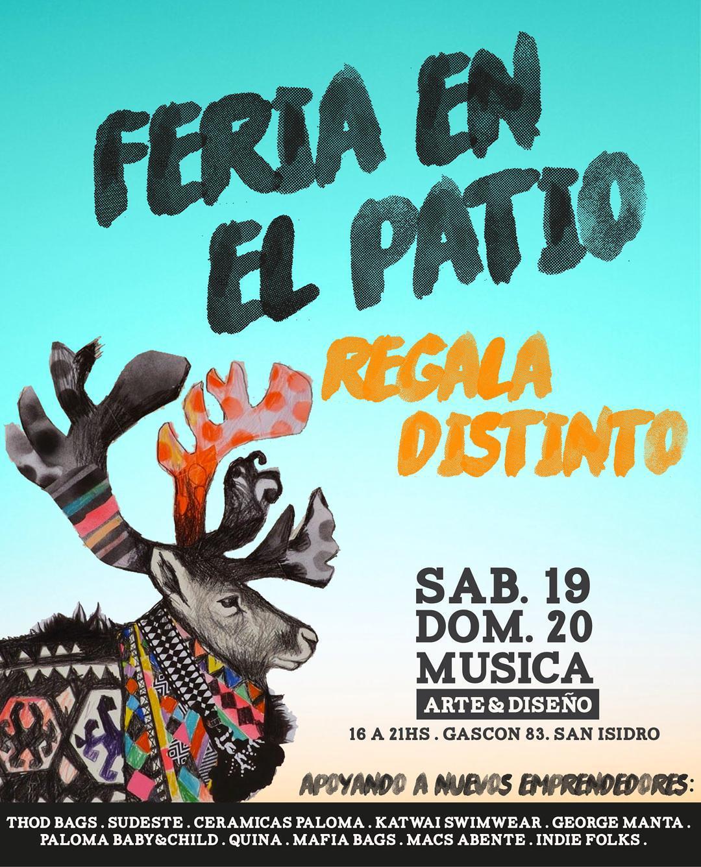 Regala distinto en esta Navidad. Feria en el Patio con Arte, amigos y buenos proyectos.