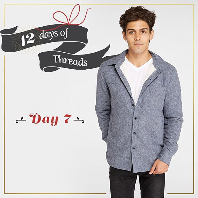 12 days of Threads- Day 7⃣- #giveaway. #WIN our Sherpa Work Shirt- soft & comfy! Follow us on Instagram, repost this photo tagging @threads4thought & #12daysofT4T for a chance to win! #prize #giveaway #mens #sherpa #shirts #fashion #livesustainably