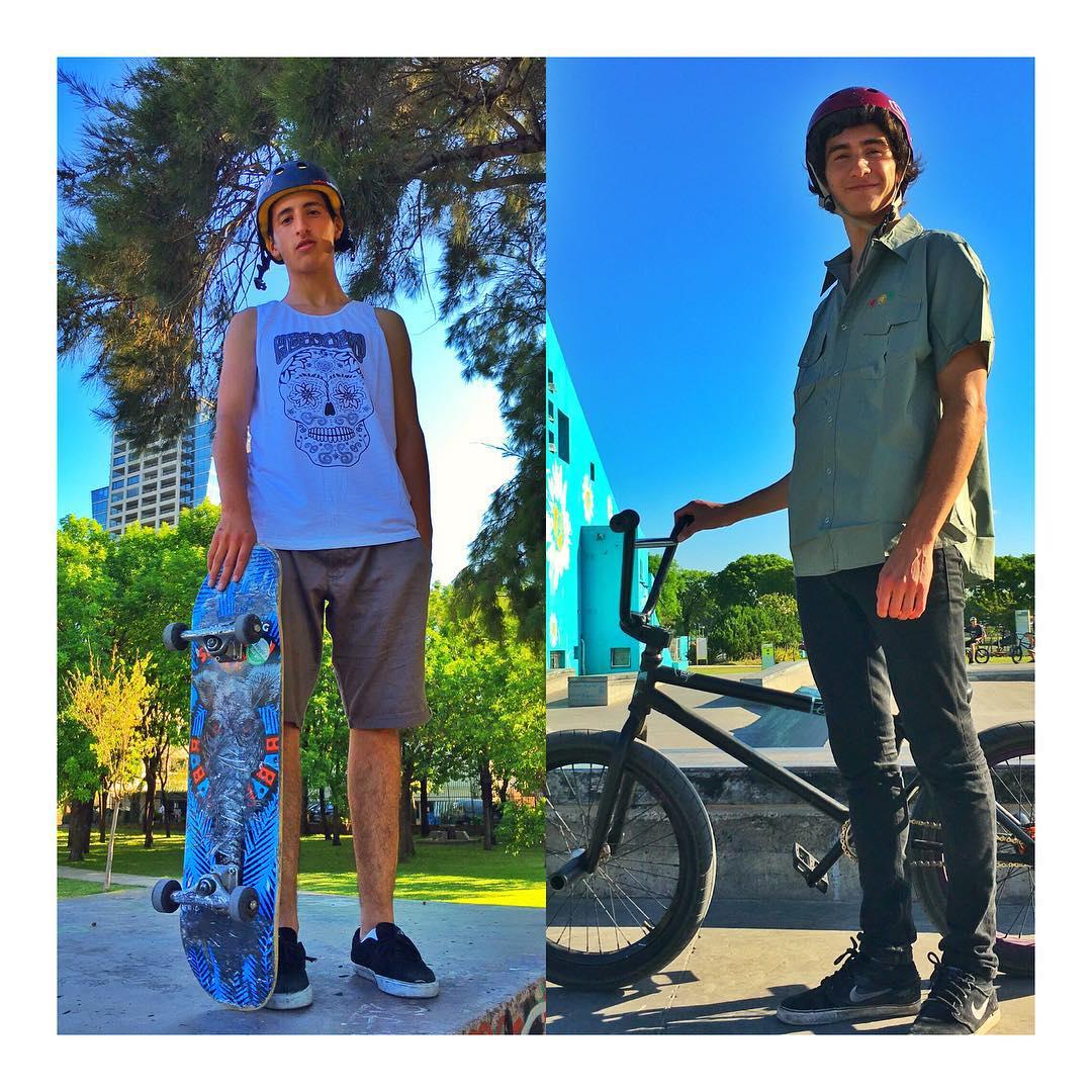 Domingo a puro #skate y #bmx de la mano de estos dos idolos! @luchoromano y @berni_bmx - Sunday funday skateboarding and riding bmx!