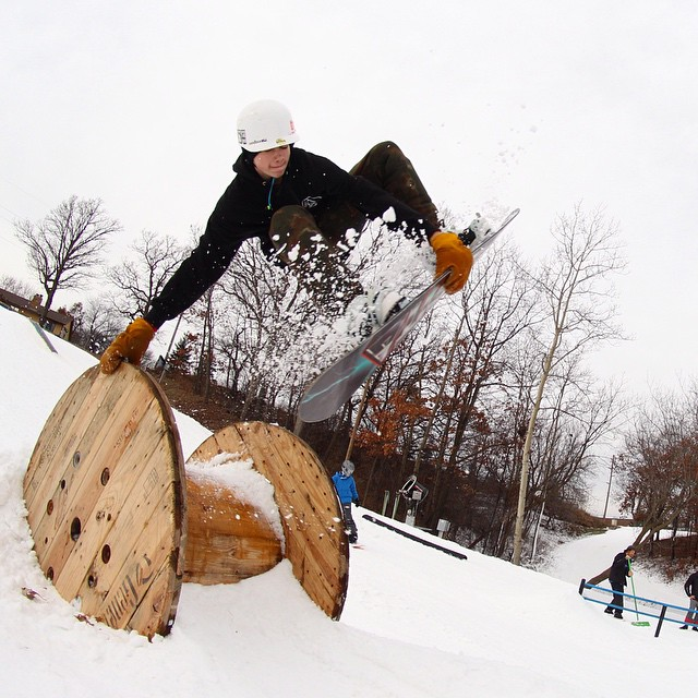 Happy World Snowboarding Day from @buckhill Minnesota & camper @_.drewsif._ !! 10th years of celebrating the Snowboard Camp Tour and spreading the fun