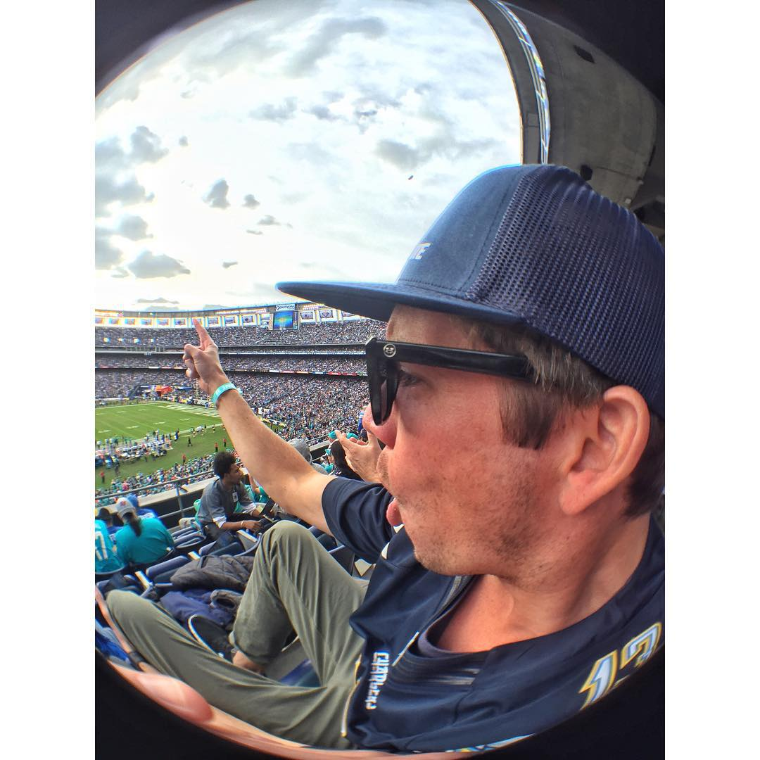 @hovenvision supports the San Diego @chargers in their last home game. Bolt up San Diego.  #hovenvision #whatsyourvision #chargers #boltup #wemightstartariot