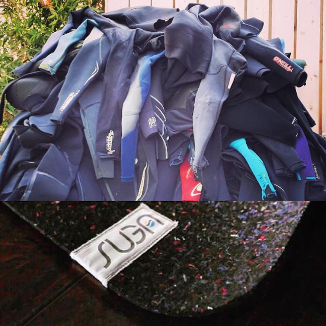Want to help keep all these old #wetsuits out of the garbage dump,  and get the world's surfiest yoga mat, changing pad, or beer koozie... all made from those same wetsuits?