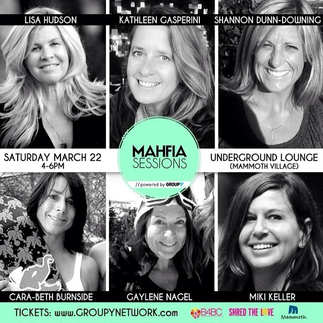 "SHRED THE LOVE // MAHFIA SESSIONS powered by @GroupY kicks off this weekend at @mammothmountain. ""Tribute to Female Pioneers in Snowboarding"" Industry Panel feat. @B4BC co-founders Lisa Hudson, Kathleen Gasperini, Shannon Dunn-Downing, industry..."