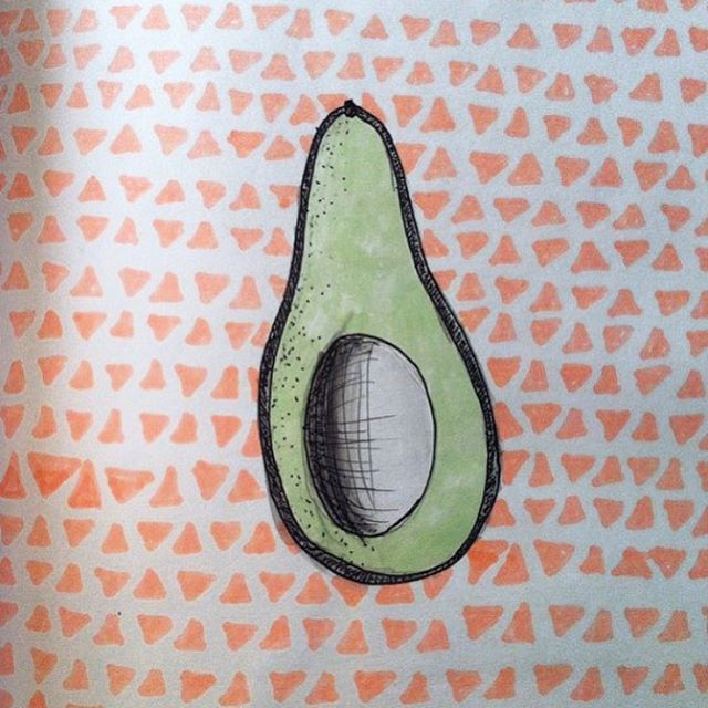 Omega 3 sketch pad inspiration from @saltandfreckles (and suddenly craving avocado toast) #AllSwell