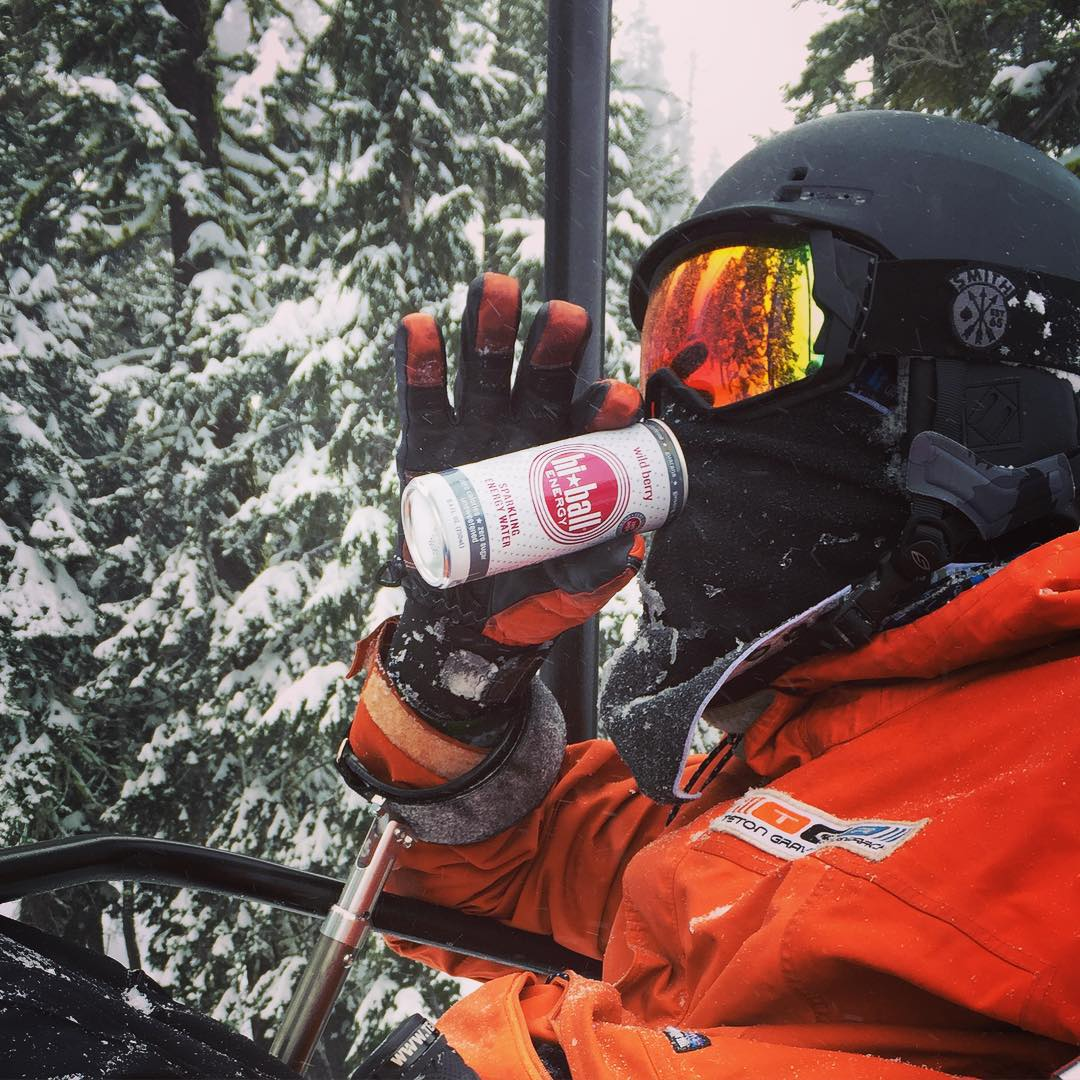 """Fueled up and fired up for #SundayFunDay!! Huge thanks to @hiballenergy for making such empowering products.  Today was a """"wow"""" kinda @squawalpine day"""