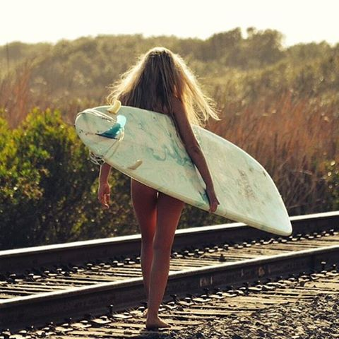 Everywhere is within walking distance if you have the time - Steven Wright  PC: @kaydiarcher  #surfergirl #quoteoftheday #luvsurf #railroad