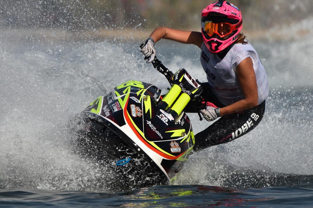 @jmenard89 prolongs her world title at the Aquabike World Championship! Congratulations to the 2015 Ski ladies world champion!  #PWC #worldchampion #ladies #aquabike #watersports