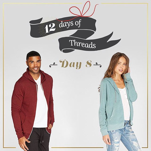 12 Days of Threads- Day 8⃣- #giveaway. 2⃣ #WINNERS! Win our zip hoodies, available in multiple colors! Follow us on Instagram, repost this photo tagging @threads4thought & #12daysofT4T for a chance to win. 2 winners will be announced tomorrow. #win...
