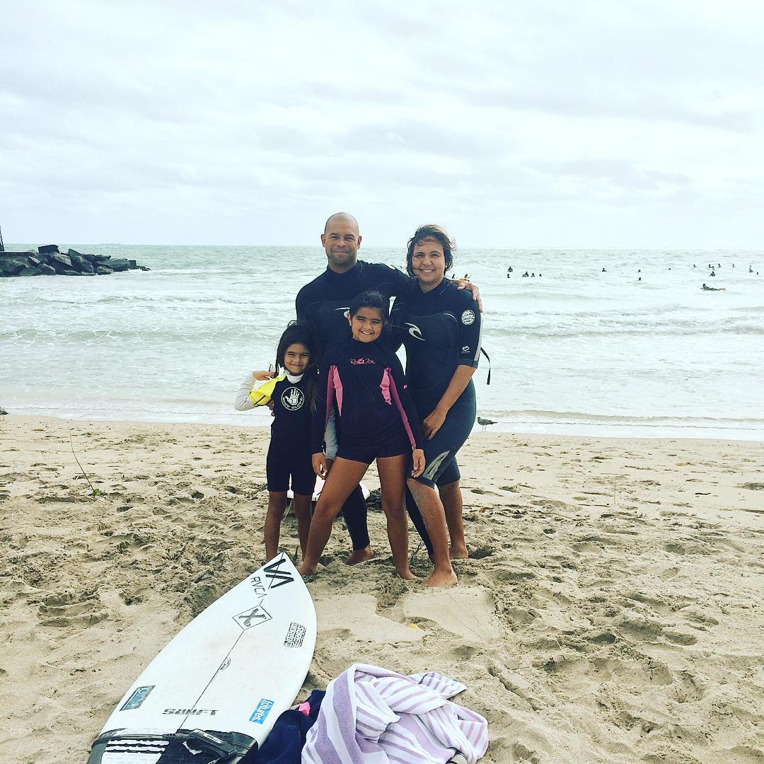 """We're a family of all girls, 6 girls that all surf. I used to surf professionally and now my whole family surfs, it's tradition."" @Rklifesaver #surfers #miamisurfers #surfside #florida #saltlife #stoke #tradition #prosurfer #beach #ocean #saltlife"