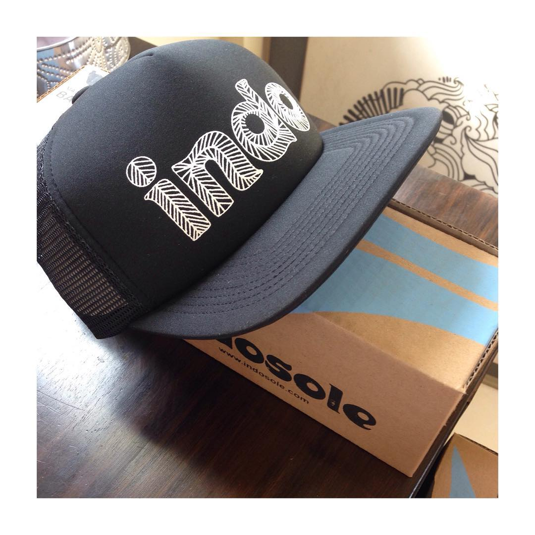 A fresh pair of Indos (packed in recycled cardboard packaging) & an #IndoHat ready to go. ✔️ #Indosole #TiresToSoles #SolesWithSoul