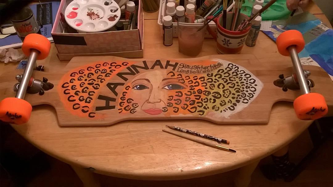 Custom hand painted #kray #bamboo #longboard by #slaughterhas #longboards #longboarding #art #painted #skateboarding #concretewave #skatelife