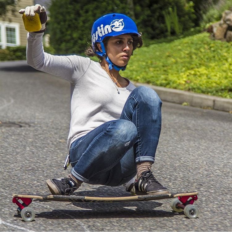 Please help us sending good & recovery vibes to this shredder @carlajavier.b. Muchos besos Carli!  @khaleeqovision photo. Repost from @bustinboards.  #longboardgirlscrew #womensupportingwomen #lgcusa #skatelikeagirl #carlajavier