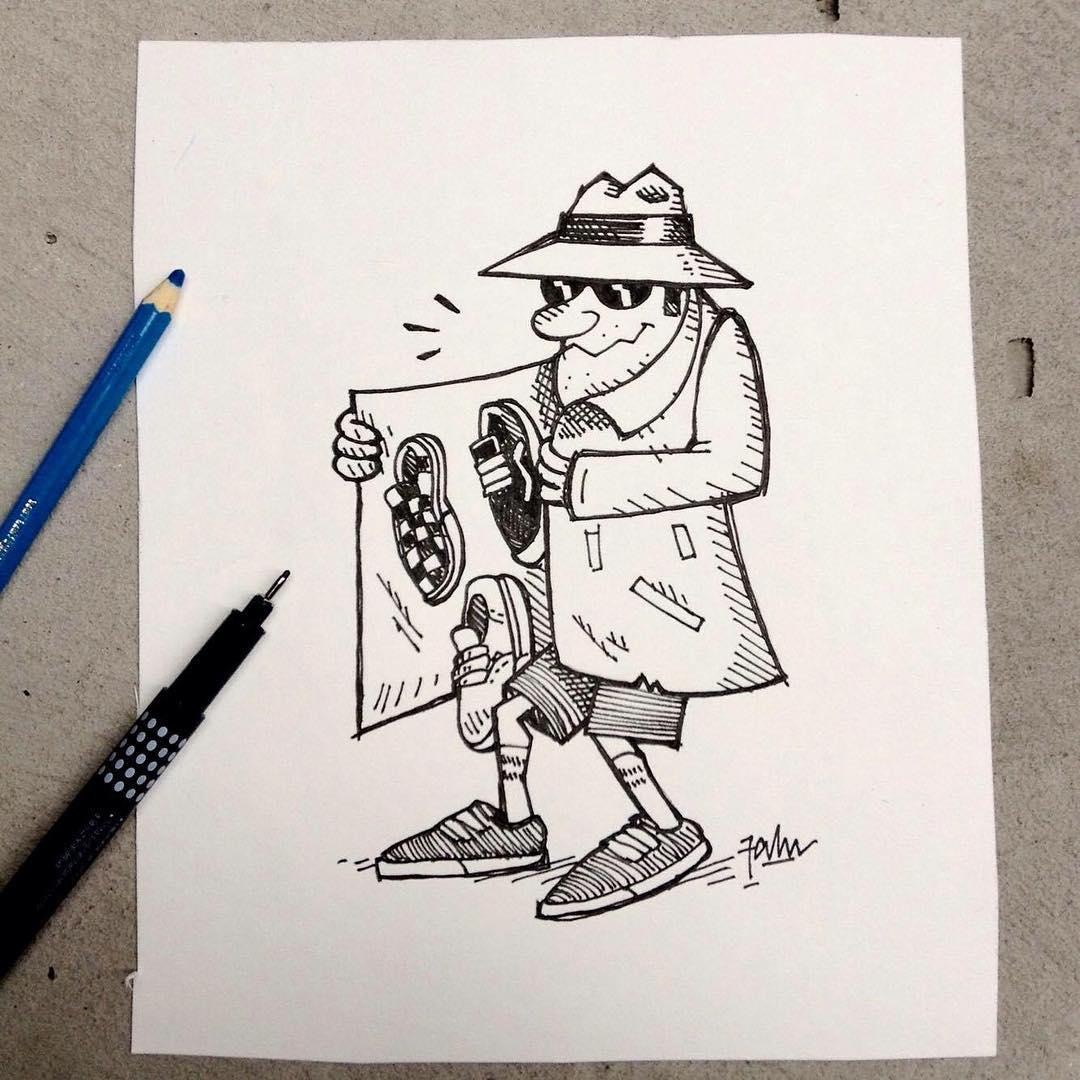 No está para patinar, pero sí para dibujar: Vans unofficial dealer ☝