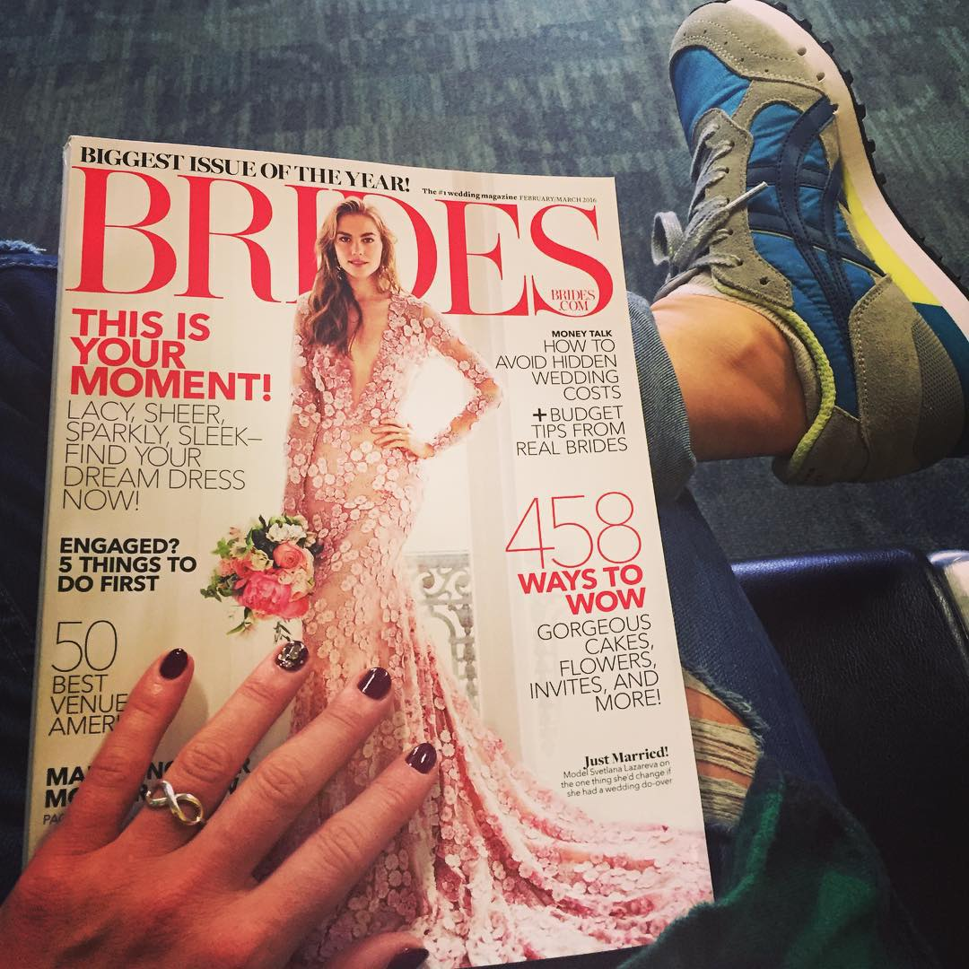Been waiting a long time for this airport reading material @brides. Off to Chicago for the holidays! See you in the New Year SF