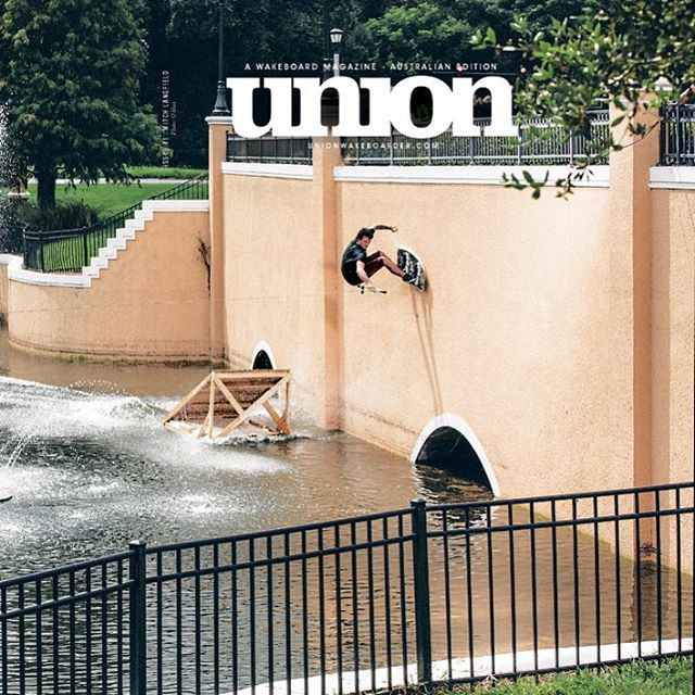 @mitchlangfield on the cover of @unionwakeboarder!