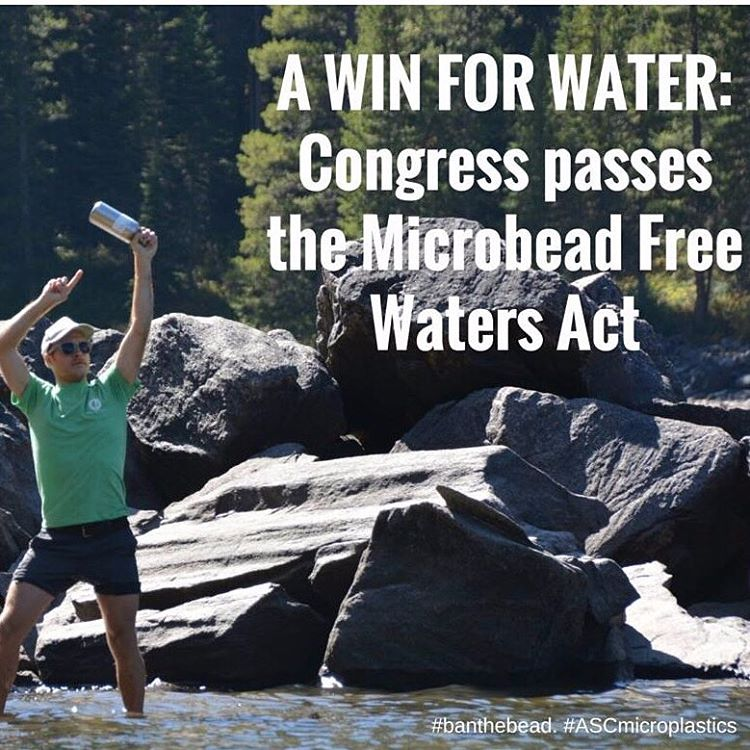 Victory! On Friday, a unanimous vote in the US Senate sent microbead ban legislation to President Obama's desk for signature. Thanks to all our adventurers and allies for their continued hard work to reduce microplastic pollution. ‪#banthebead...