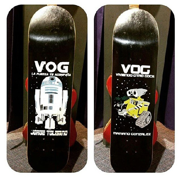 regala #skateboarding #vogskateboards #starwarsskateboards #wall-e