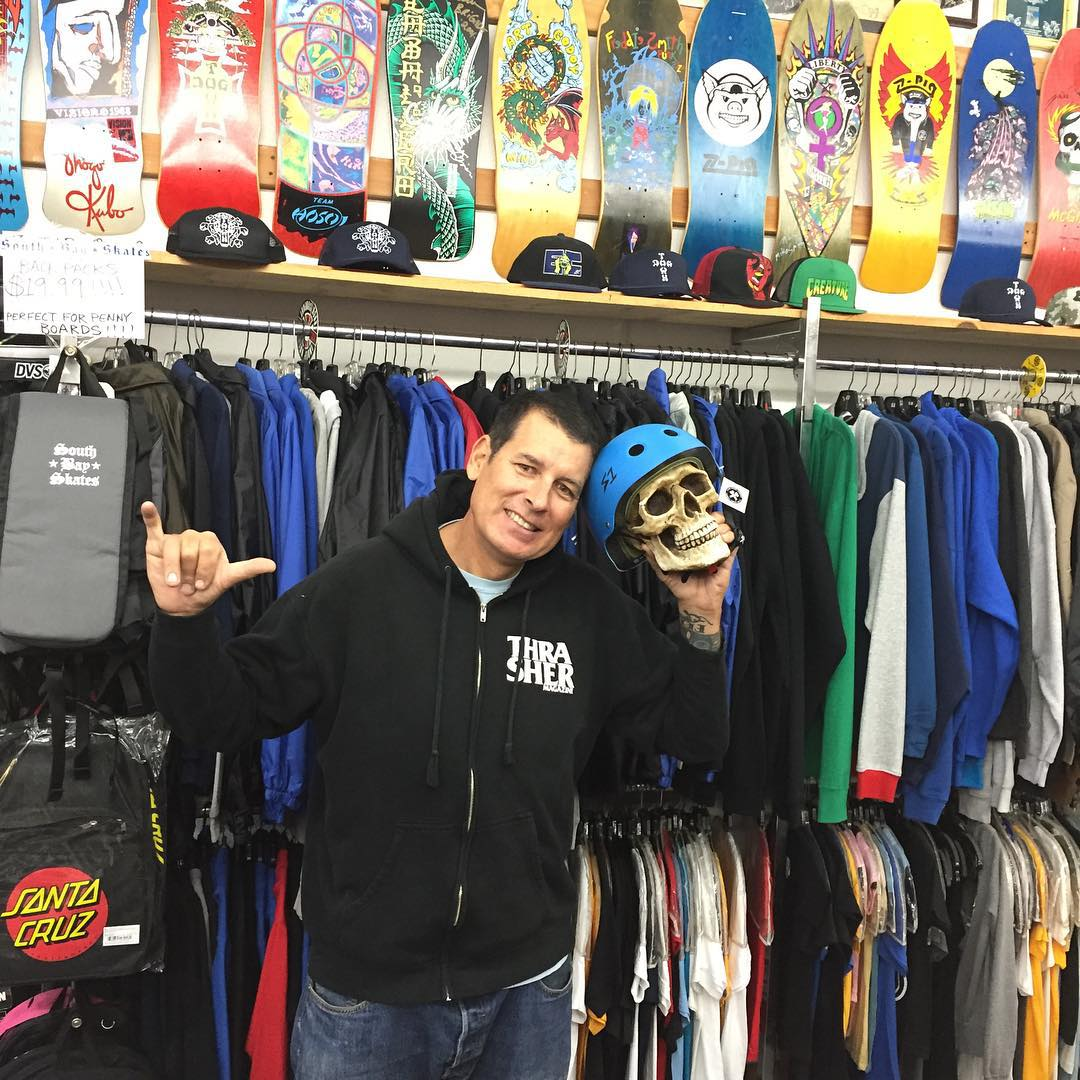 "S1 Lifer Helmets are the only helmets James at #SouthBaySkates offers his customers! South Bay Skates is right across from #alondraskatepark in #torrance. Super rad shop. #skatehelmet #s1helmets #s1lifer #southbay #supportyourlocalskateshop !!! ""Been..."