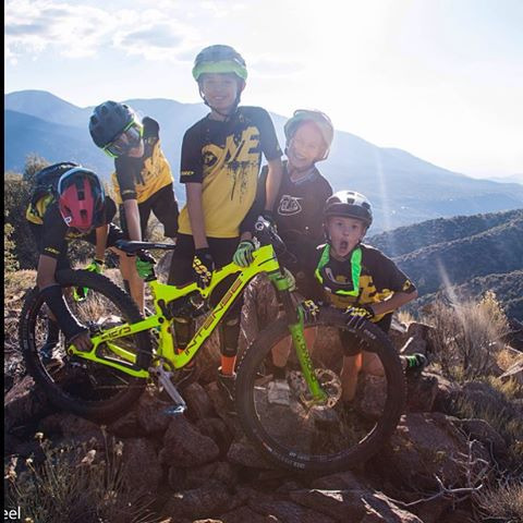 All smiles & good times with the Grom Team from @chainlinebikes They always get us stoked to ride - Looking prime in our #Sixsixone #EvoAM Helmets too! #661 #661Protection #ProtectFun #Fasterthanyou