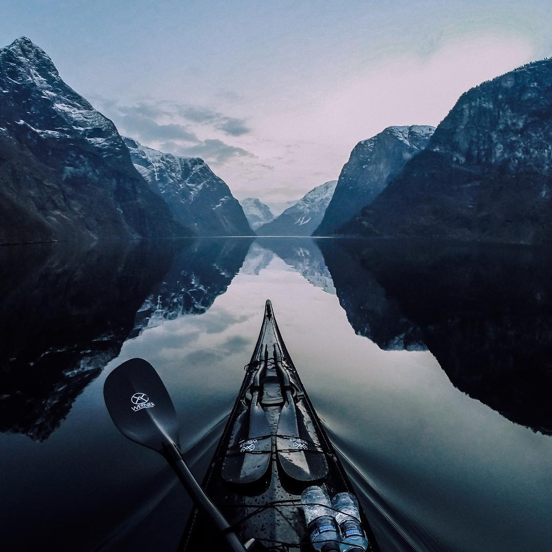 Best of 2015: #8  The stillness. Wow. We were mezmorized by  #GoProAwards recipient @tfbergen gliding over the  #Nærøyfjord in #Norway. Submit your captivating photos to GoPro.com/awards. #GoPro #InstaTravel