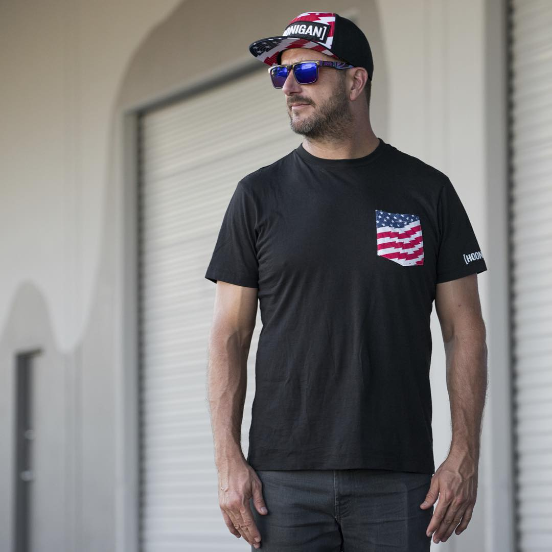 Don't let last minute shopping land you with lame gift. Stop into @zumiez and pick up the Stars and Stripes pocket tee!