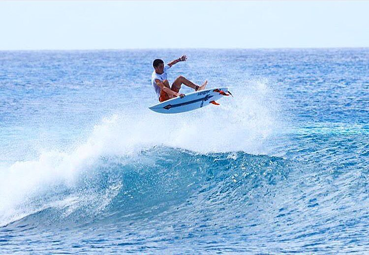 @danemackie boosting in Barbados.