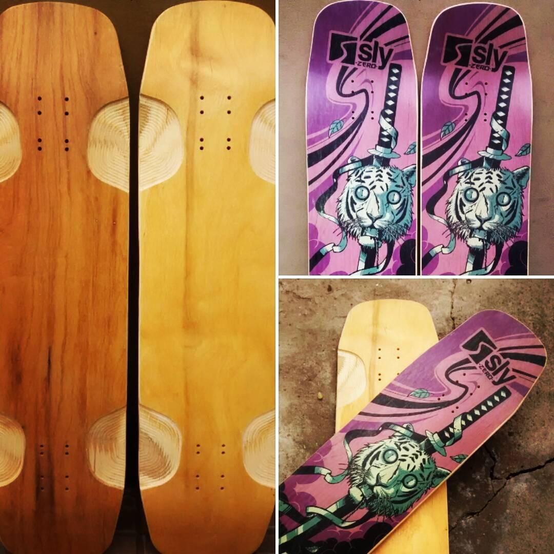 Algún día iba a suceder. Sólo dos disponibles, gráfica en el deck, bottom en madera #slyskateboards #slyZERO #noestaenlastiendas sólo disponible a través de facebook www.facebook.com/slyskateboards