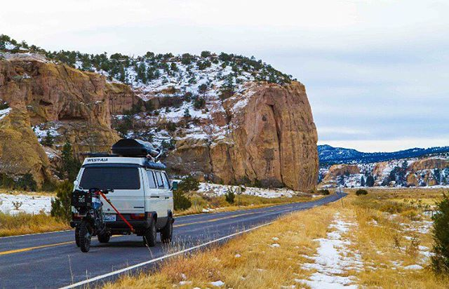 Home is where the Westy is. @fluid.nomad in the southwest.  _ #itswayoutthere