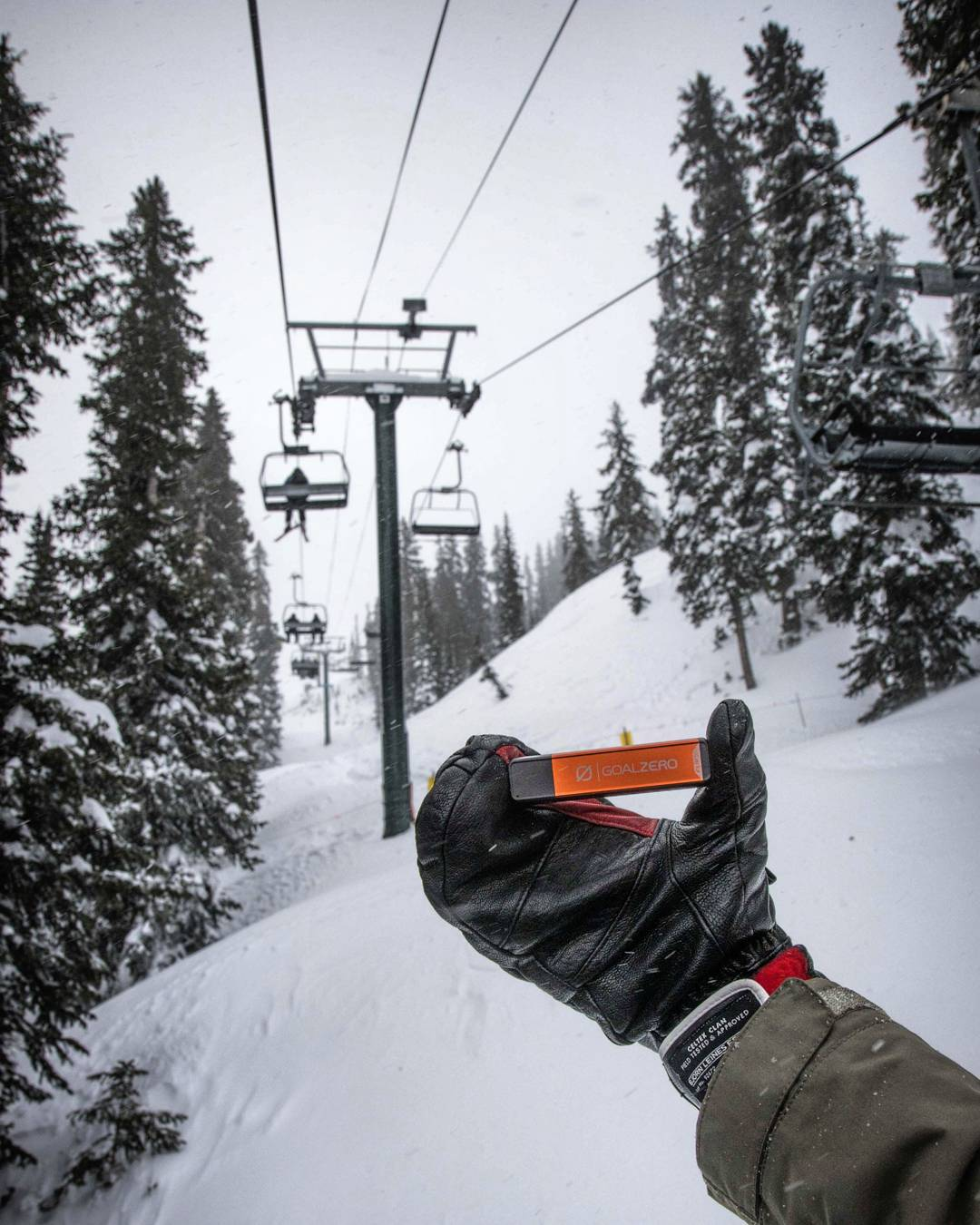 A cold day and a couple feet of fresh snow at @brightonresort can drain your phone battery. Bring an extra. #getoutstayout